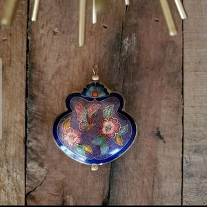Butterfly Cloisonne 3D Pendant